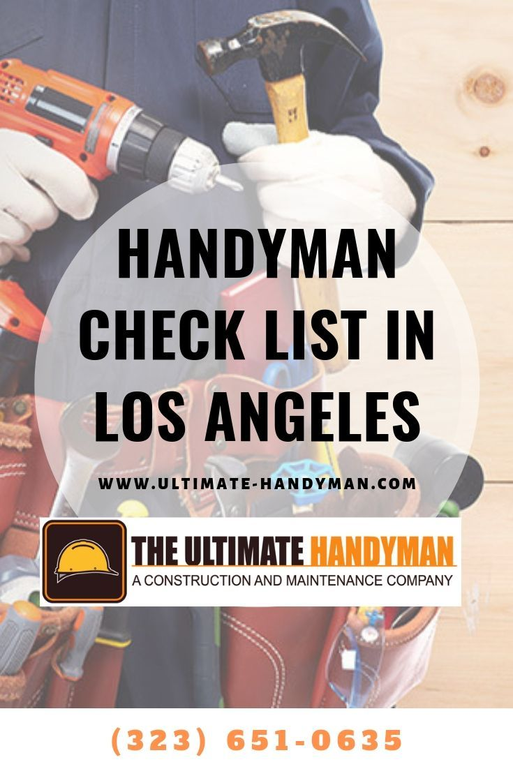 Check List For Maintenance For Los Angeles Residents Handyman Gutter Repair Plaster Repair