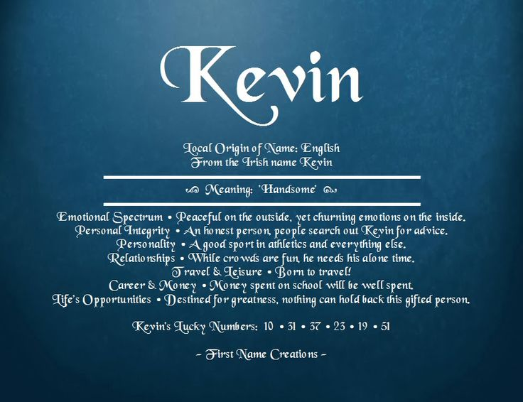 Kevin Name Meaning - First Name Creations