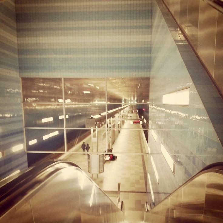 Rolltreppen in der Hafencity.
