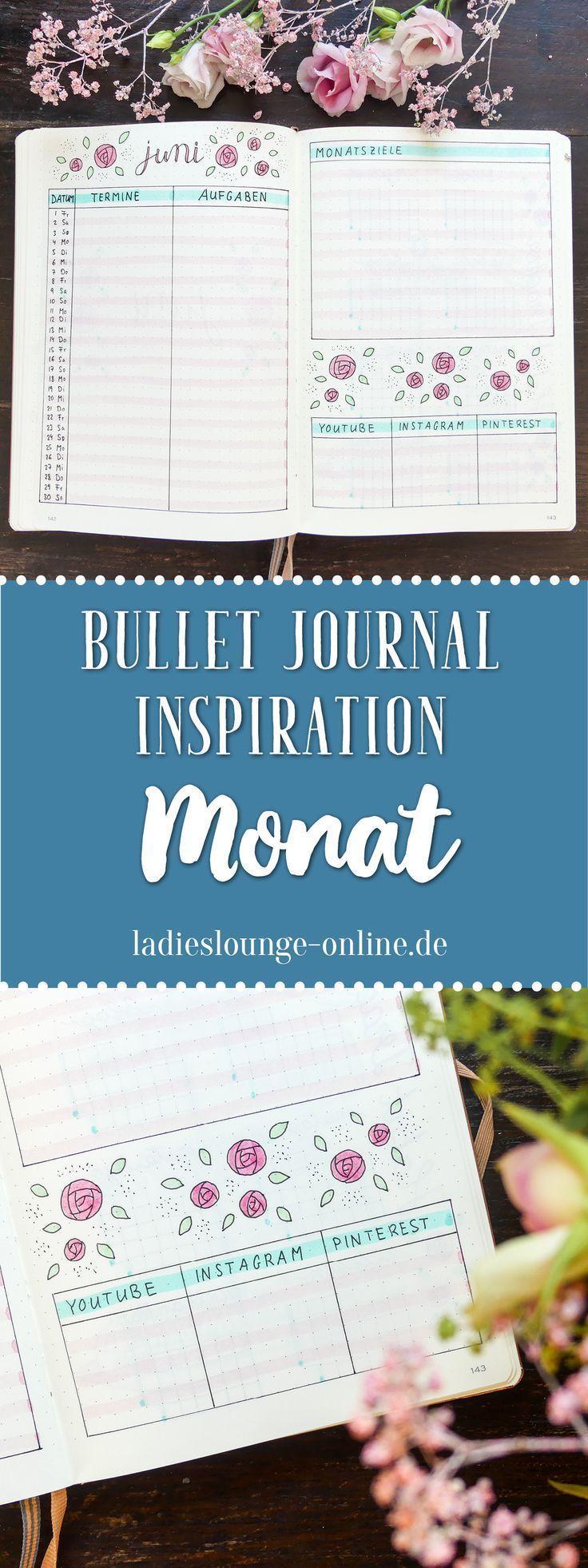BULLET JOURNAL IDEEN DEUTSCH Inspiration für dein Bullet Journal. Monatsplanung