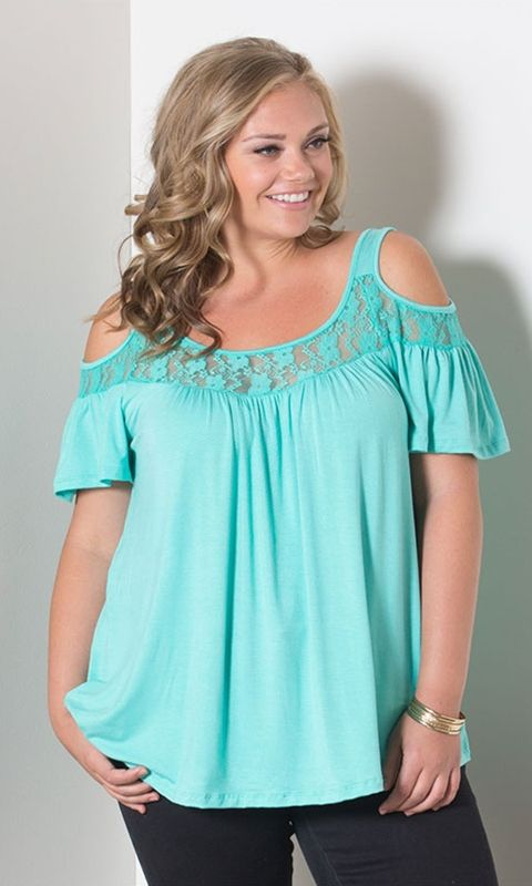 Stacy Cold Shoulder Top - Mint $39.60 (pair w/ favorite jeans or maxi skirt. Layer it w/ a cardigan for extra coverage)