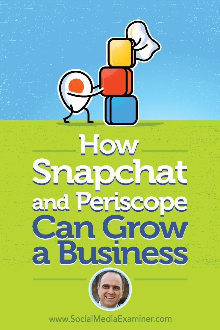 Youll discover creative ideas to help your own business succeed with Periscope, Snapchat, and Instagram Stories.