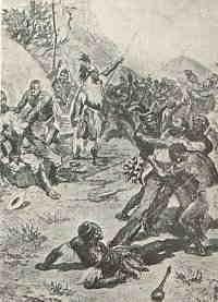 This day in History: Nov 12, 1780 - Voortrekker leader, Piet Retief is born http://dingeengoete.blogspot.com/ http://voortrekker-history.co.za/graphics/massacre.jpg