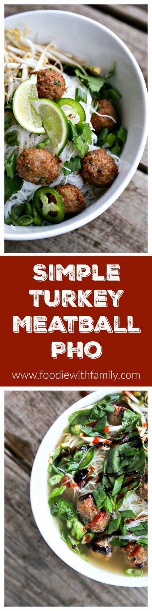Simple Turkey Meatball Pho