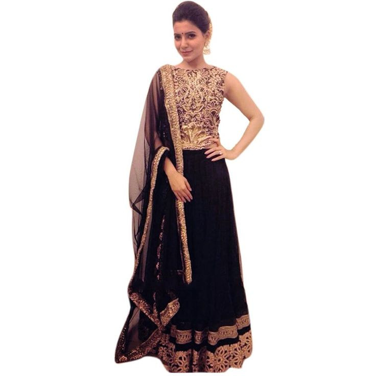 Black Queen With Georgette Designer Bollywood Lehenga Choli: Amazon.in: Clothing & Accessories