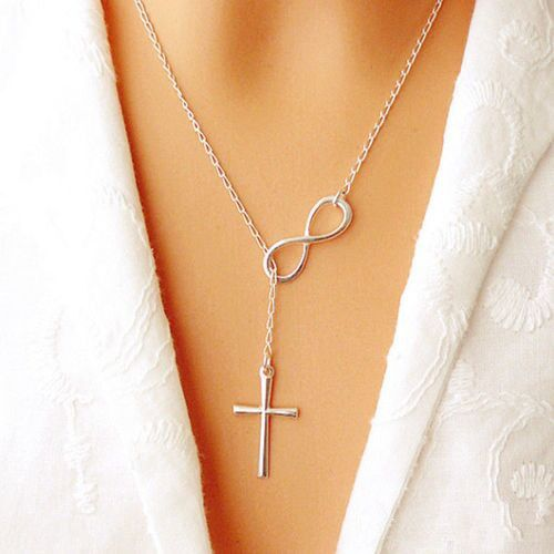 Infinity Jesus Cross Necklace! from Christian Designs