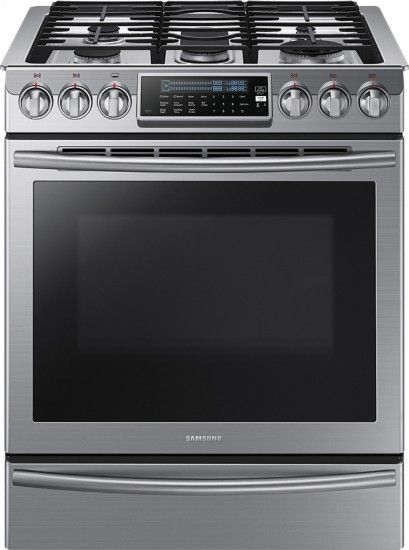 "Samsung - 30"" Self-Cleaning Slide-In Gas Convection Range - Stainless Steel - Slide in gas range - top rated by consumer reports $2499 list (on sale $1799)"