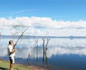 Peter Faust Dam at Proserpine is an excellent spot for freshwater fishing
