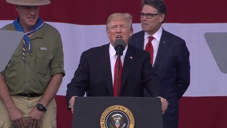 Donald Trump under fire for political speech at Boy Scouts event, as social media reminds president of values