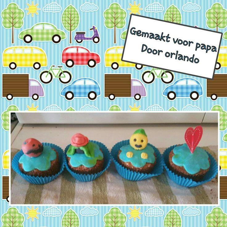 Gemaakt door mijn zoon:     vaderdag Cupcakes