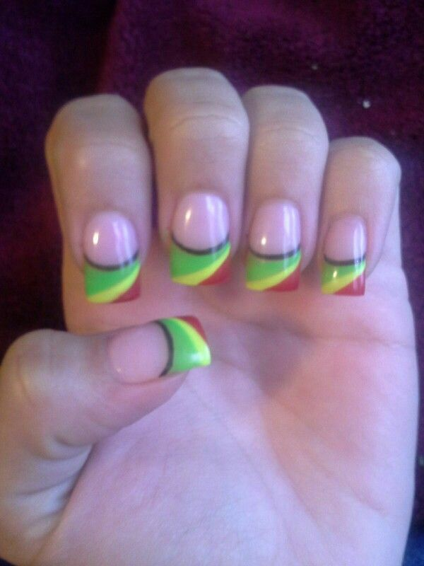 30 best Nails images on Pinterest | Rasta nails, Makeup and Cute nails