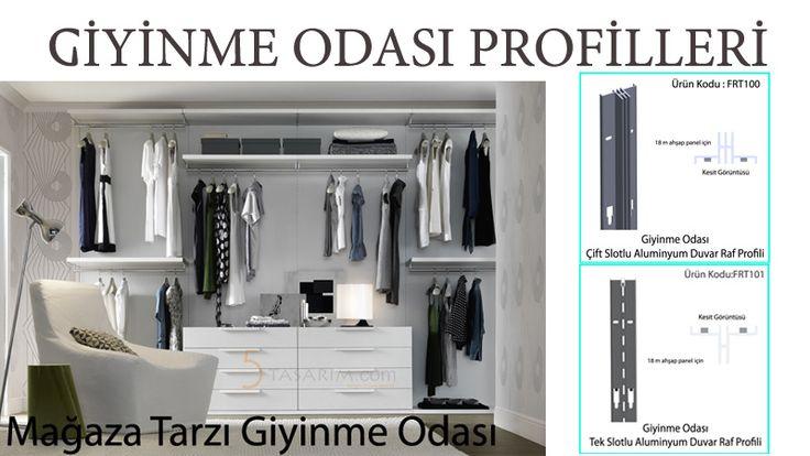 giyinme odası profillleri ve fiyatları