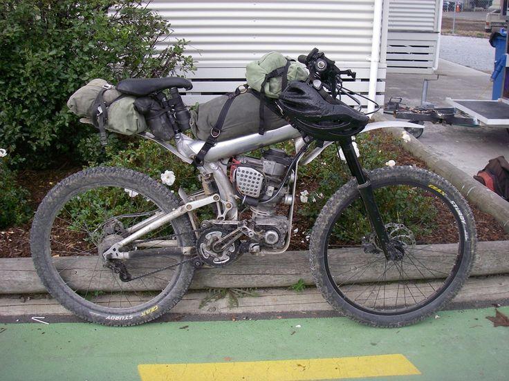 motorized mountain bike | ... very unusual bike packer he had fitted an engine to a mountain bike