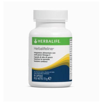 Herbalifelineè una miscela esclusiva di lipidi marini altamente raffinati ad alto contenuto di acidi grassi Omega 3, quali l'acido Eicosapentaenoico (EPA) e l'acido Docosaesaenoico (DHA), che contribuiscono alla normale funzione cardiaca. All'esclusiva combinazione Herbalife di oli di pesce altamente raffinati, sono stati aggiunti oli essenziali di timo, menta e chiodi di garofano, per ridurre al minimo il retrogusto del prodotto. Prezzo al pubblico: € 39,77