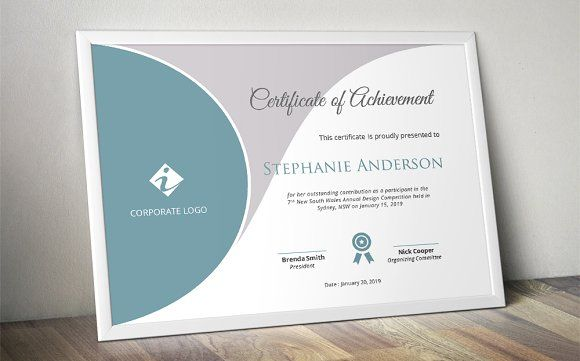 Curved Certificate Template Docx By Inkpower On Creativemarket