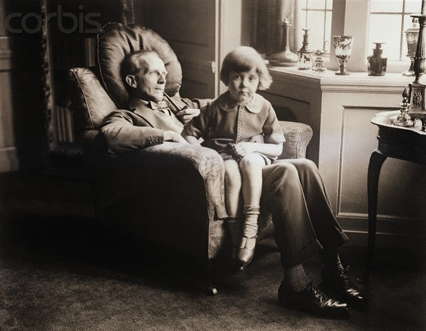 AA Milne (with Christopher Robin!)