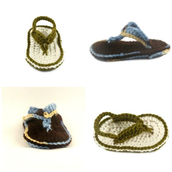Baby Boy Flip Flops, Crochet Flip Flops for Baby Boy