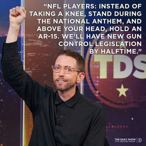 Guns are a #symbol and the only way to Fight a Symbol is with a #symbol.  Neal Brennan reports:  http://on.cc.com/2xVtJAT