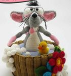 Мобильный LiveInternet вязаный крысенок | Риоритта - Вязаные игрушки |