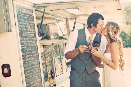 food trucks for weddings!  I'm already married but I would have totally done this!