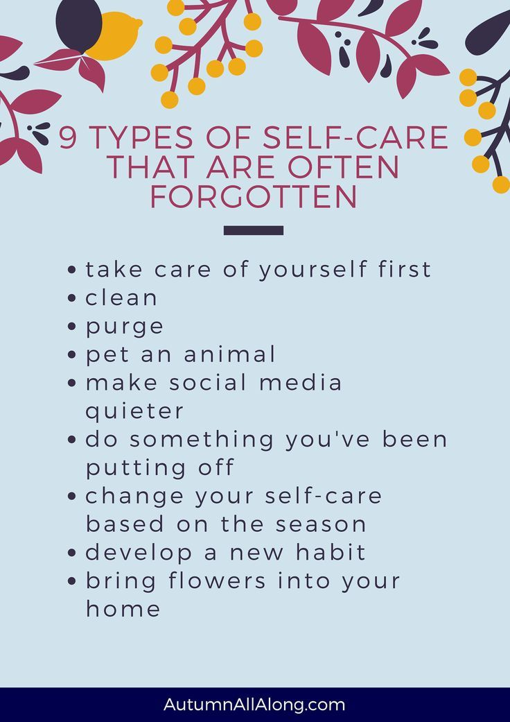 9 types of self care that are often forgotten