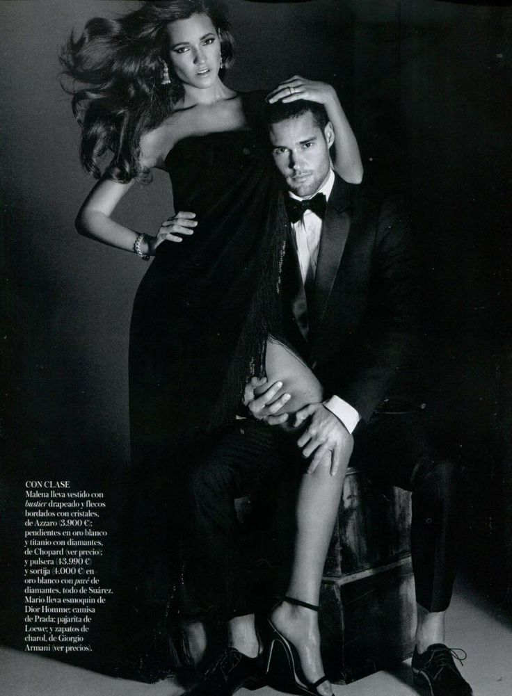"""Vogue Spain - Malena Costa wearing the """"Panache"""" dress from #Azzaro Spring Summer 2014 Main Collection"""