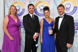 Lucy James with FBM Holidays, winner of the 2014 Gold Award (Photo- Pembrokeshire Photography)