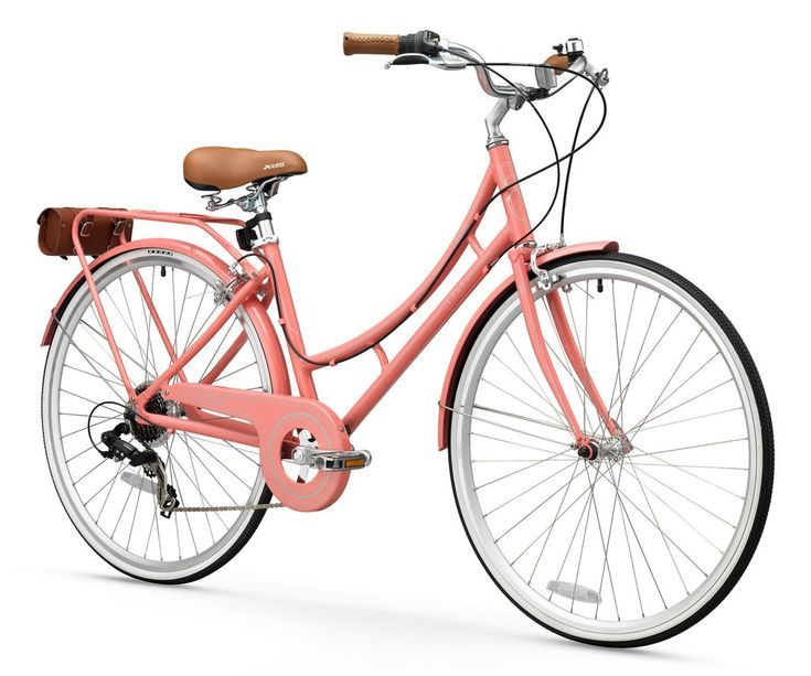 Xds Nadine 7sp Women S Hybrid City Commuter Bike Pink Coral