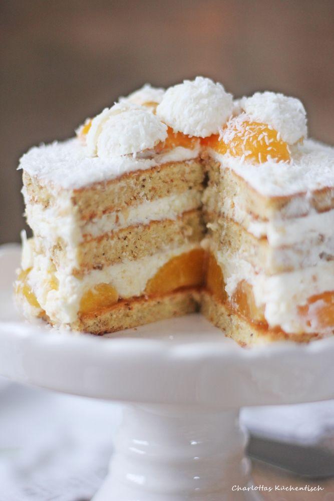 Raffaello-Kokos-Torte, Raffaellotorte, Kokostorte, Raffaello, Aprikose, #ichbacksmir, Kaffeezeit, Kuchenliebe,