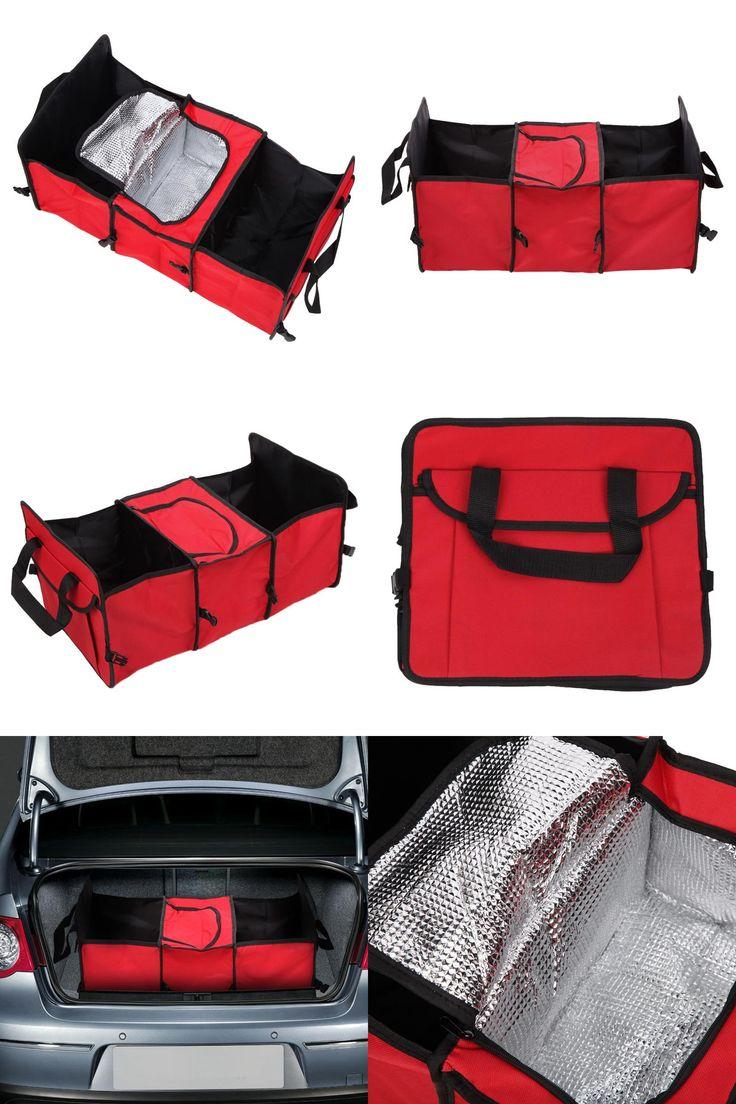 [Visit to Buy] Car-styling Trunk Organizer Storage Bag Oxford Cloth Folding Organizador Coche Box Car Van Organizador Cooler Auto Accessories #Advertisement