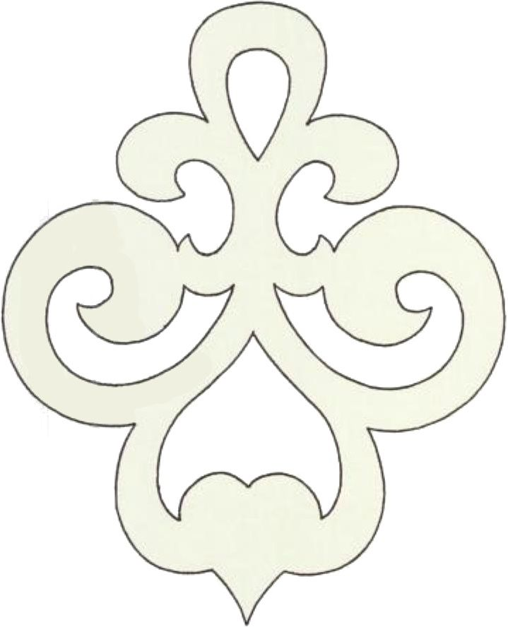 Padded Gobelin?  Felt cut-out, appliqued?Image result for scroll design clip art