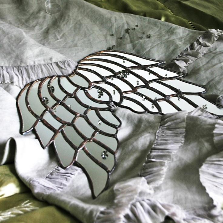 Versailles Angel - mirrored glass angel wings