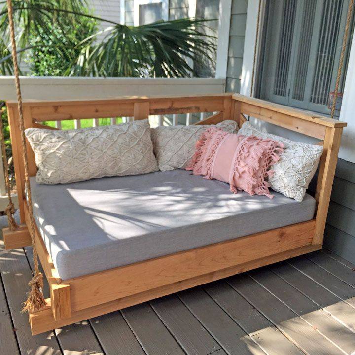 Pair Of Sunbrella Daybed Cushions Shine On Southern Porch Swings