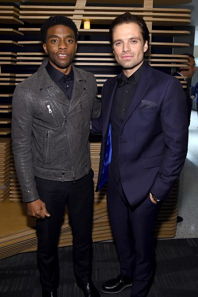 Sebastian Stan and Chadwick Boseman attend the screening Of Marvel's 'Captain America Civil War' hosted by The Cinema Society with Audi FIJI at Henry...