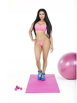 Nicki Minaj's Workout Wear Is a Bit More Bold Than the Average Gym-Goer's Style | The rapper showed off a fit physique to announce her new singles new drop date.