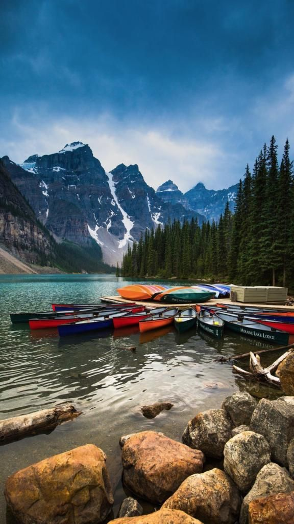Iphone X Background Nature Boats Mountain Nature Free Hd Wallpapers Pretty Wallpapers