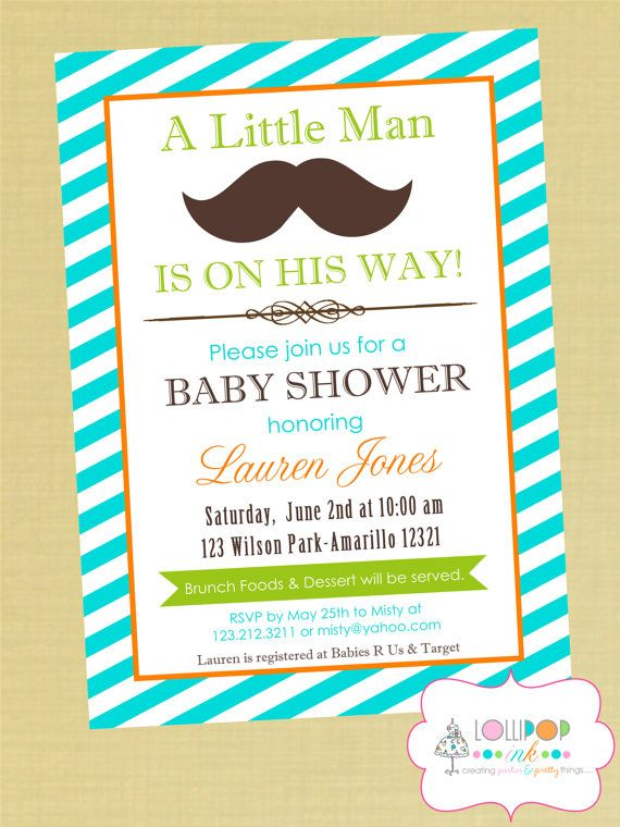 baby shower printable invitation personalized little man baby shower