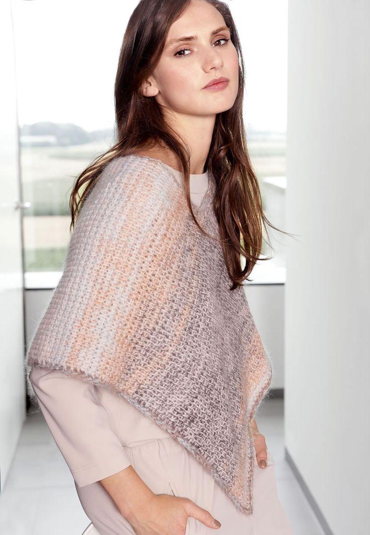 Lana Grossa PONCHO Arioso/Silkhair Print - Design Special No. 4 - Modell 22 | FILATI.cc WebShop