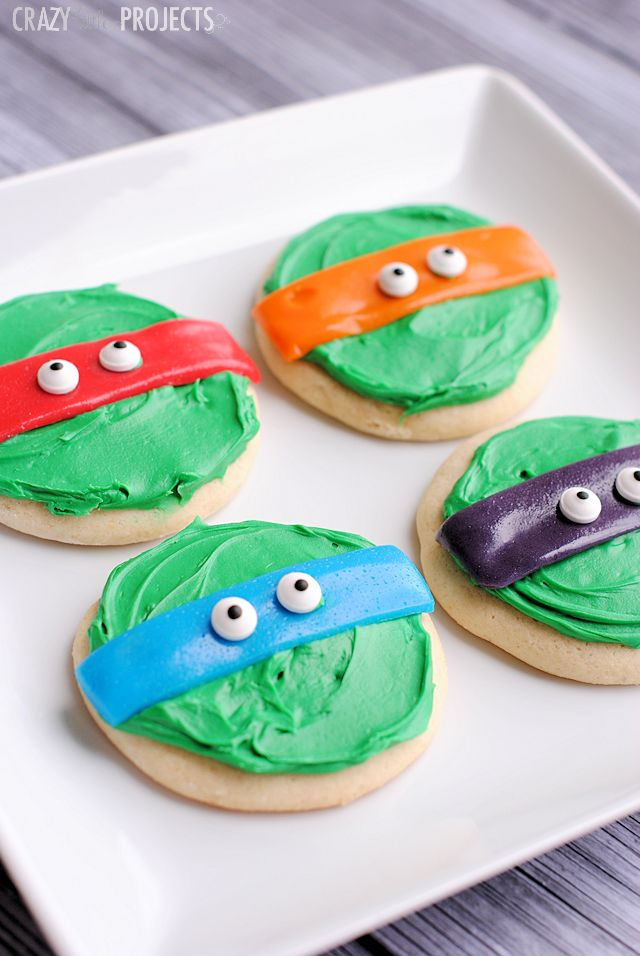 Teenage Mutant Ninja Turtles Cookies <------ can also double as 5sos cookies;)