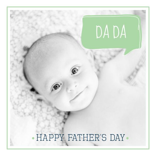 1st father's day greeting card for minted.com challenge - First Words Fathers/Mothers Day