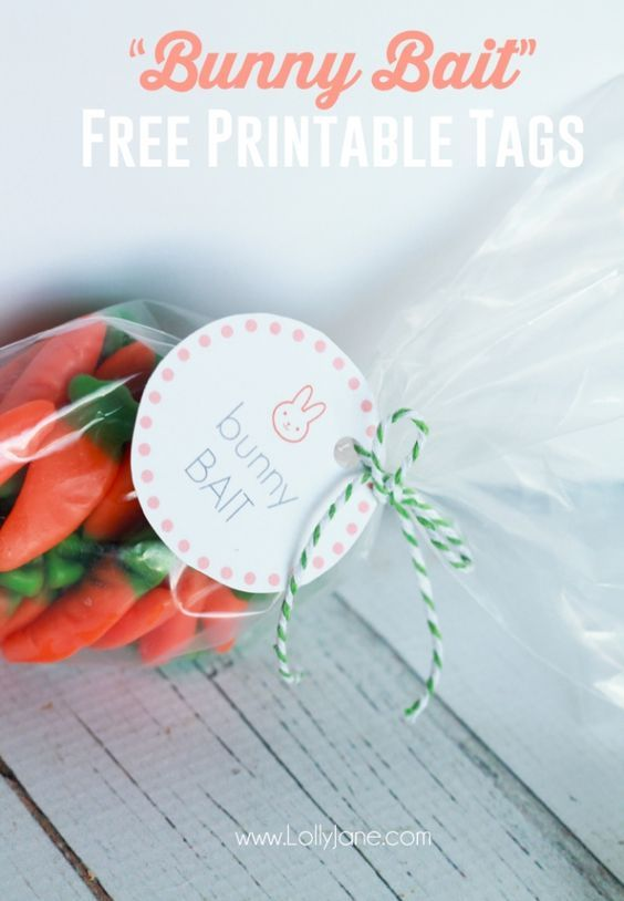 Easter Bunny Bait Treat with FREE Printable Tags