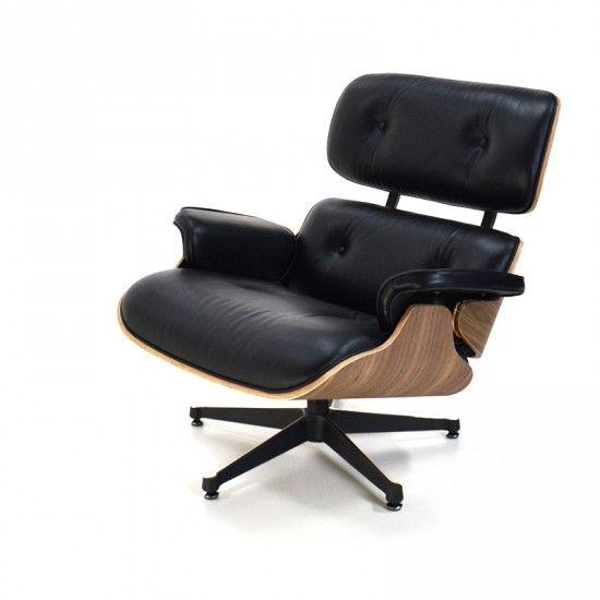 eames lounge chair schwarz lounge sessel popfurniture lounge eames interieur. Black Bedroom Furniture Sets. Home Design Ideas
