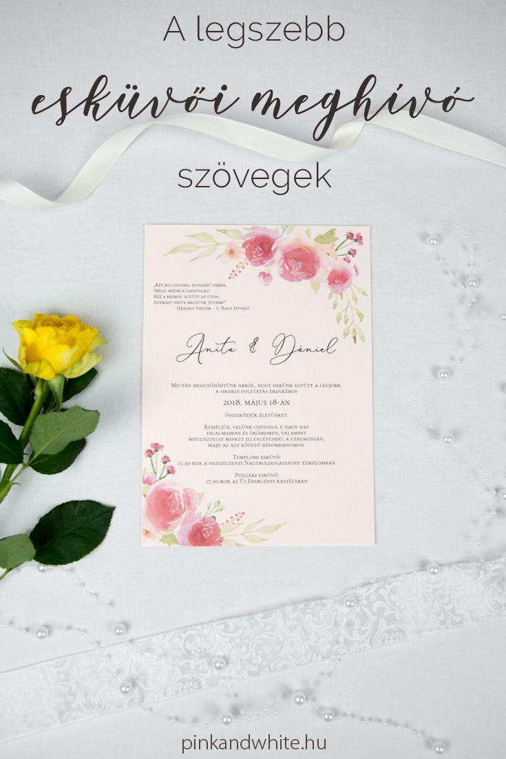1cf12935d22 A legszebb esküvői meghívó szövegek | Pink & White | Pink&White Blog ...