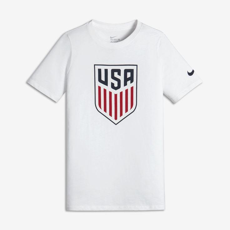 Nike U.S. Crest Big Kids' T-Shirt Size Large (White) - Clearance Sale