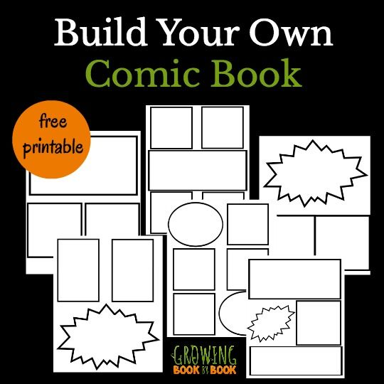 A free printable comic book template for kids to create their very own comics. Just print, create, and bind for your very own book.
