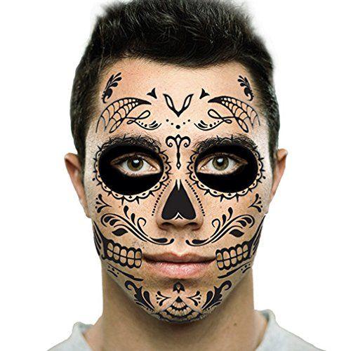 17 best ideas about skull face tattoo on pinterest skull for Halloween makeup tattoos