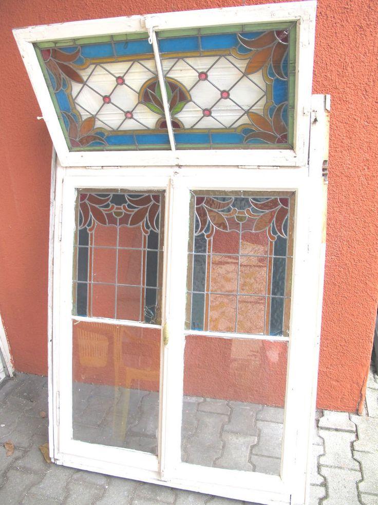 altes fenster buntglas bleiverglasung nostalgie antik fenster pinterest. Black Bedroom Furniture Sets. Home Design Ideas
