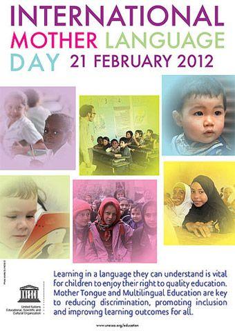 21 February | International Mother Language Day | United Nations/UNESCO www.un.org www.unesco.org          Pinterest: @United Nations @UNESCO  Facebook: @unitednations @unesco  Twitter: @UN  @UNESCO  YouTube: @unitednations  @UNESCO