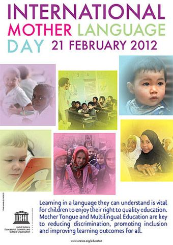 21 February | International Mother Language Day | United Nations/UNESCO www.un.org www.unesco.org          Pinterest: @United Nations @UNESCO  Facebook: @unitednations @unesco  Twitter: @UN  @UNESCO  YouTube: @unitednations  @UNESCO