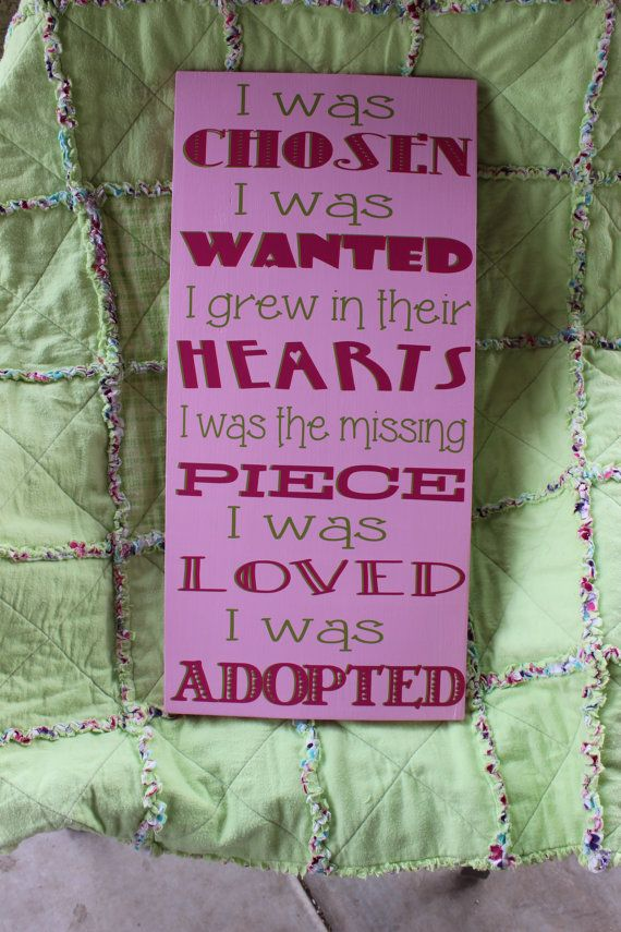 Adoption Wood Sign by PaisleysParables on Etsy